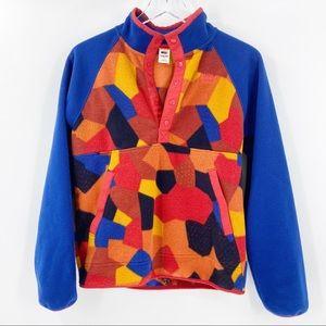 REI Pullover Fleece Top Color Block Large 14 16